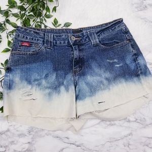 3 FOR 15 Fubu Distressed Ombre Shorts